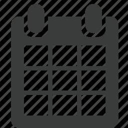 binder, calendar, date, event, planning, reminder, time icon