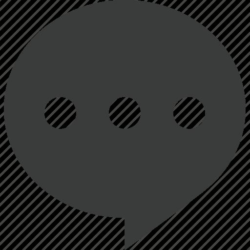 bubble, chat, comment, message, mobile, talk, text icon