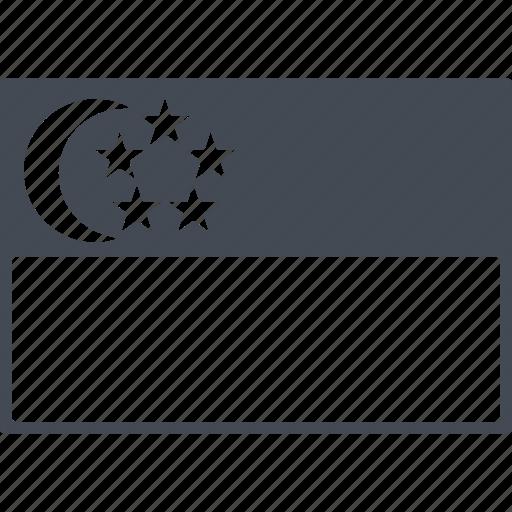 asia, country, flag of singapore, republic, singapore icon