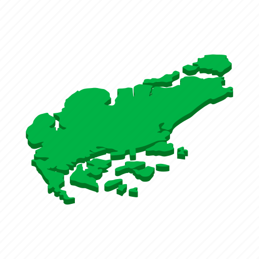 country, geography, isometric, map, national, singapore, world icon