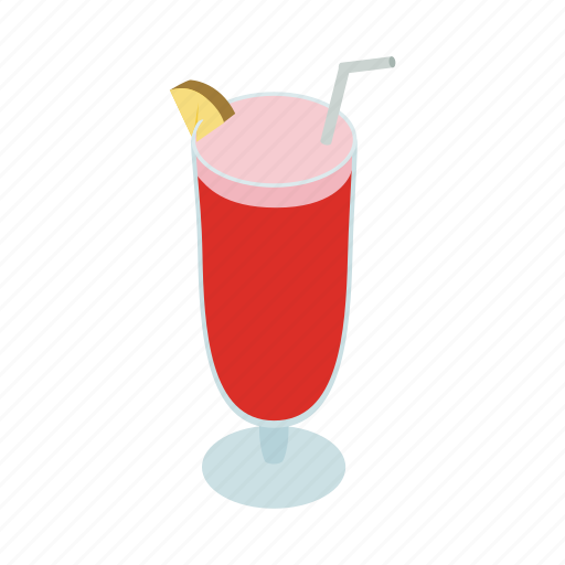 alcohol, beverage, cocktail, drink, isometric, singapore, sling icon