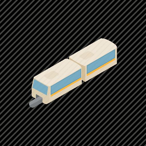 fast, high, isometric, railway, speed, train, transport icon