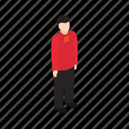 asian, boy, human, isometric, male, person, singaporean icon