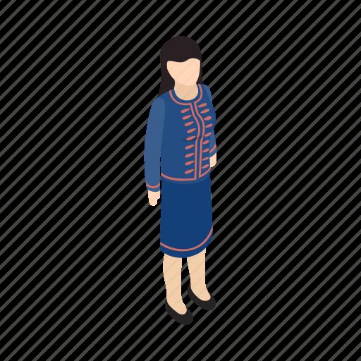 Female, girl, human, isometric, person, singaporean, white icon - Download on Iconfinder