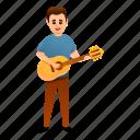 acoustic, guitar, music, party, retro, singer, man