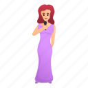 dress, long, music, singer, woman