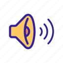audio, contour, music, singing, sound icon
