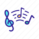 classical, key, melody, music, musical, note, singing icon