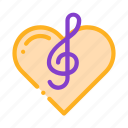 clef, element, heart, song, treble