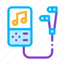 headphones, player, portable, record icon