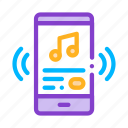 listening, music, smartphone, song icon