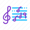 clef, element, musical, notes, opera, treble