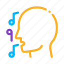 concert, man, recital, silhouette, singing, song icon
