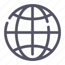 earth, globe, internet, network icon