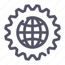 global, network, options, process icon