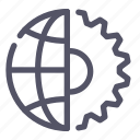 globus, internet, settings icon