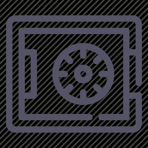 deposit, money, safe, strongbox icon