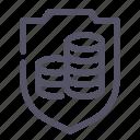insurance, money icon