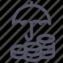 002a, money, protection, safe, umbrella icon