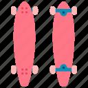 skateboard, sport, extreme, longboard, cruiser, deck, hobby icon