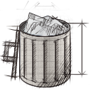 full, garbage, recycle bin, trash icon