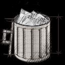 trash, full, garbage, recycle bin