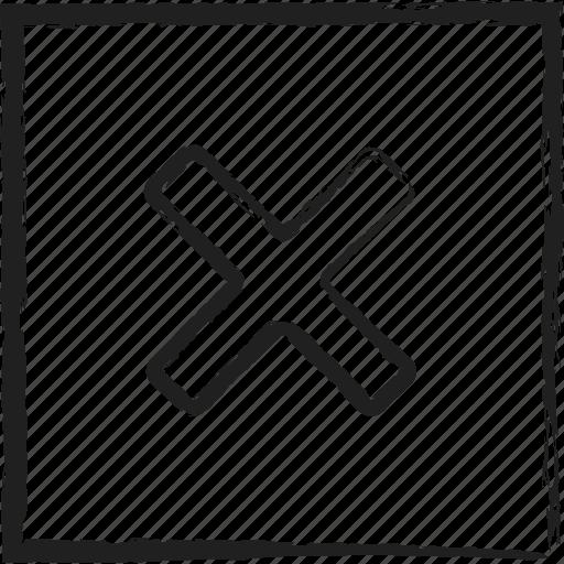 Close Cross Exit No Sketch X Icon Download On Iconfinder
