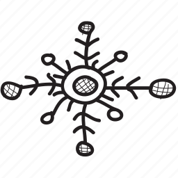 christmas, decoration, snow, snowflake, star, win, winter icon