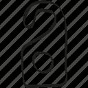 door, door hanger, hanger, hotel, tag icon icon