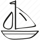 boat, sailboat, ship, watercraft icon icon