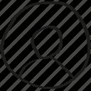 circle, user icon icon