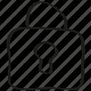 lock, padlock icon icon
