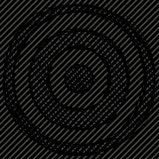 aim, center, goal, mission, purpose, target icon