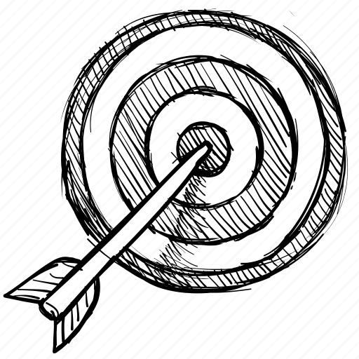 aim, arrow, goal, purpose, target icon