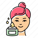 cream, face, facial, oil, procedure, product, skincare icon