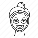 selfcare, procedure, beauty, mask, face, facial, skincare icon