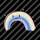 rain, rainbow, sky icon