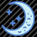 half, meteorology, moon, night