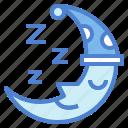 moon, night, sleep, zzz icon