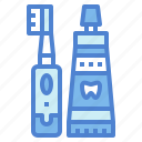 clean, hygienic, toothbrush, toothpaste icon