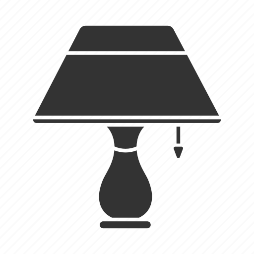 decor, furniture, lamp, light, night, reading-lamp, table-lamp icon