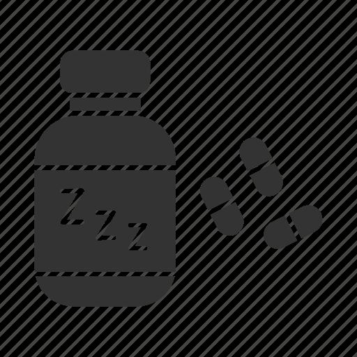 drugs, insomnia, medications, pills, sleepless, treatment, zzz icon