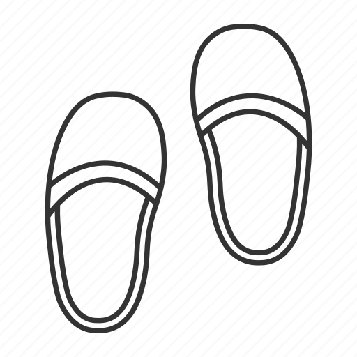 accessory, bedtime, flip-flops, footwear, home, slippers, slipshoes icon