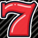 casino, seven, slot machine icon