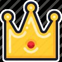casino, crown, king, slot machine