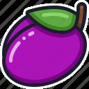 diet, fruit, healthy, plum, slot machine icon