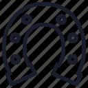 casino, horseshoe, slot machine icon