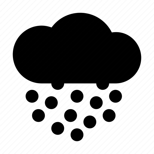 Cloud, forecast, hail, weather icon - Download on Iconfinder