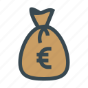 bag, bank, budget, business, euro, money icon
