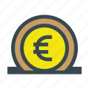 currency, deposit, euro, financial, money, save, savings icon